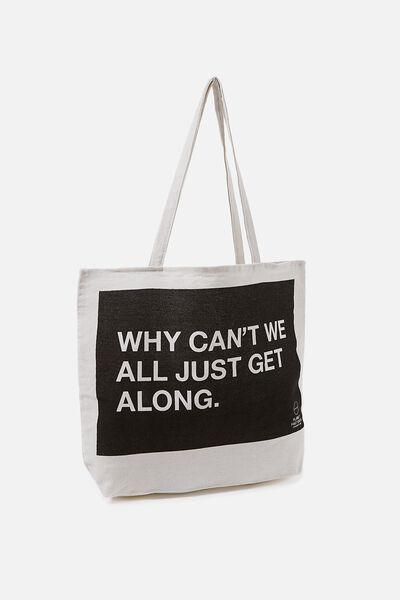 Pf Foundation Tote Bags, GET ALONG