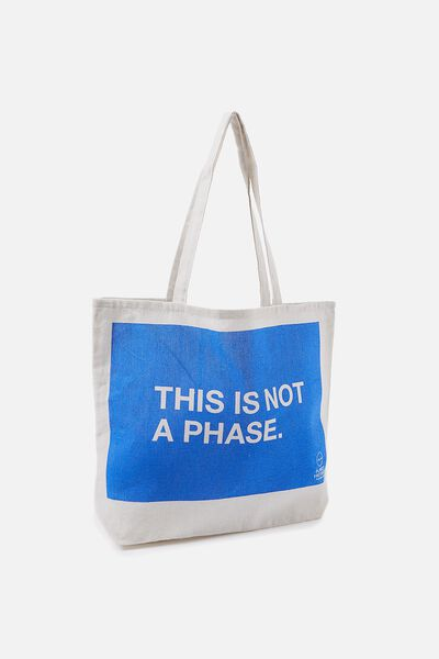 Pf Foundation Tote Bags, NOT A PHASE