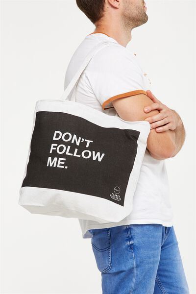 Pf Foundation Tote Bags, DONT FOLLOW ME