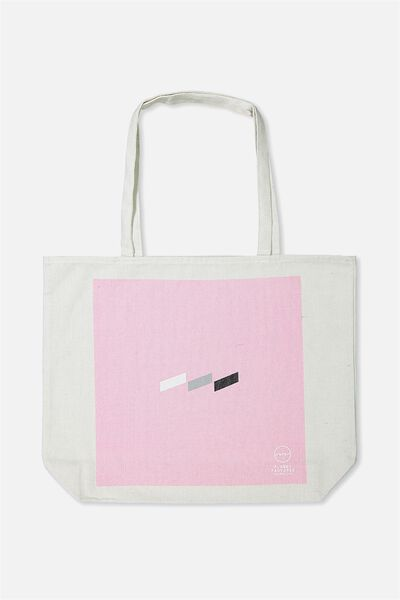Pf Foundation Tote Bags, PINK LINE LOGO