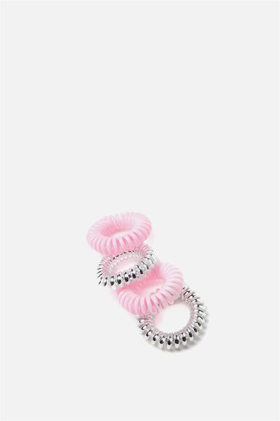 Pf Small Coils 4 Pack, PINK AND SILVER