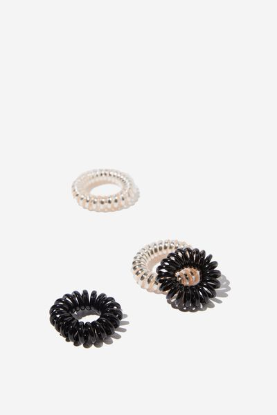 Pf Small Coils 4 Pack, ROSE GOLD AND BLACK