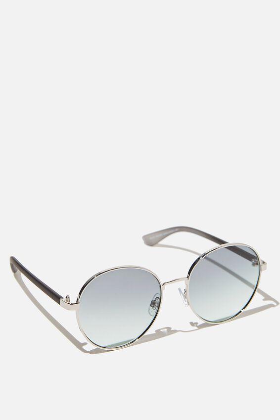 Riley Round Sunglasses, SILVER