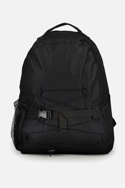 Toggle Front Back Pack, BLACK