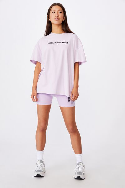 Super Relaxed Graphic Tee, ORCHID BLOOM/SOUTHBOUND