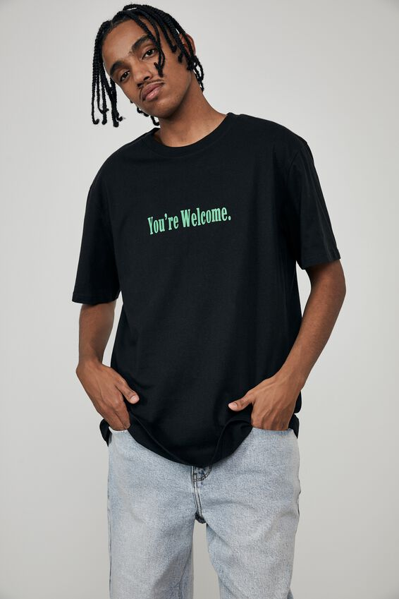 Regular Graphic T Shirt, BLACK/YOU RE WELCOME