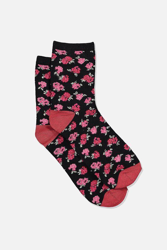 The Original Sock, BAYLEE ROSE_BLACK