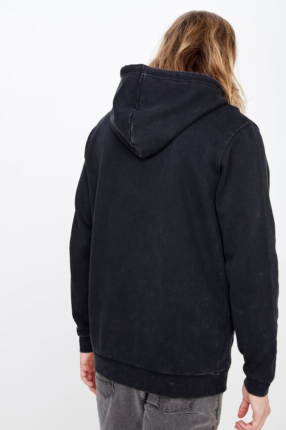 Fila Lcn Embroidered Hoodie, WASHED BLACK