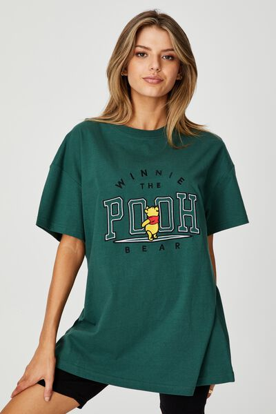 Lcn Disney Super Relaxed Graphic Tee, LCN DIS TREKKING GREEN/WINNIE THE POOH