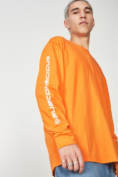 Ls Pocket T Shirt, ORANGE/SUBCONSCIOUS