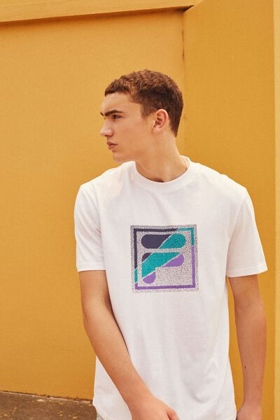 Fila Lcn Regular Graphic T Shirt, WHITE/STATIC BOX