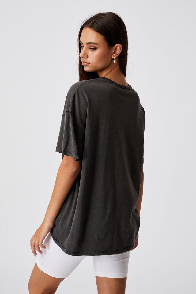 Super Relaxed Graphic Tee, WASHED BLACK/EVER CHANGING