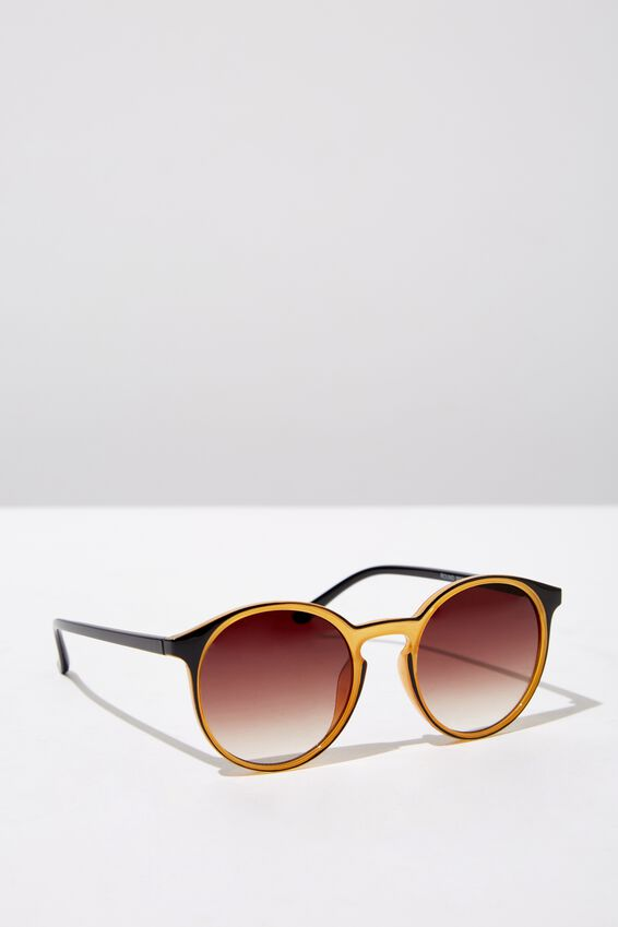 Round Reese  Sunnies, BLK YELL_BLK TINT
