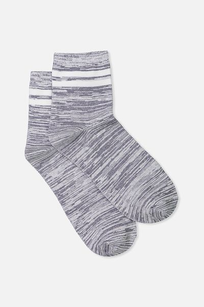 The Original Sock, SPACE DYE CHARCOAL WHITE