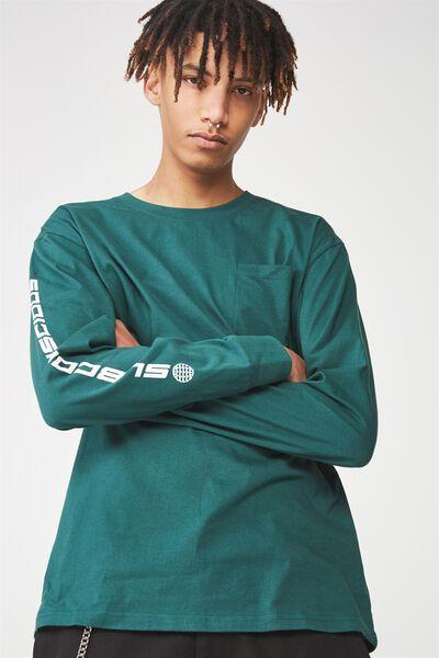 Ls Pocket T Shirt, JUNE BUG/SUBCONSCIOUS