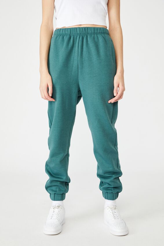 Super High Rise Trackpant, STORMY GREEN