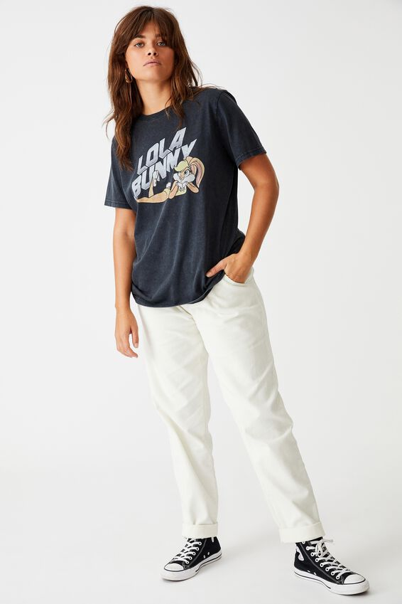 Lcn Relaxed Graphic T Shirt, WASHED BLACK/LOLA BUNNY