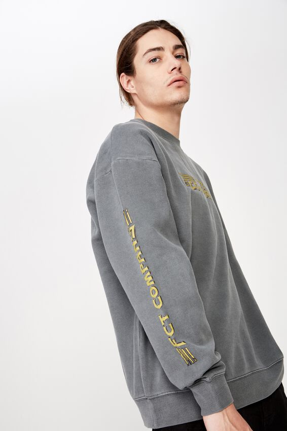 Oversized Graphic Crew, WASHED ASPHALT/FCT COMPANY