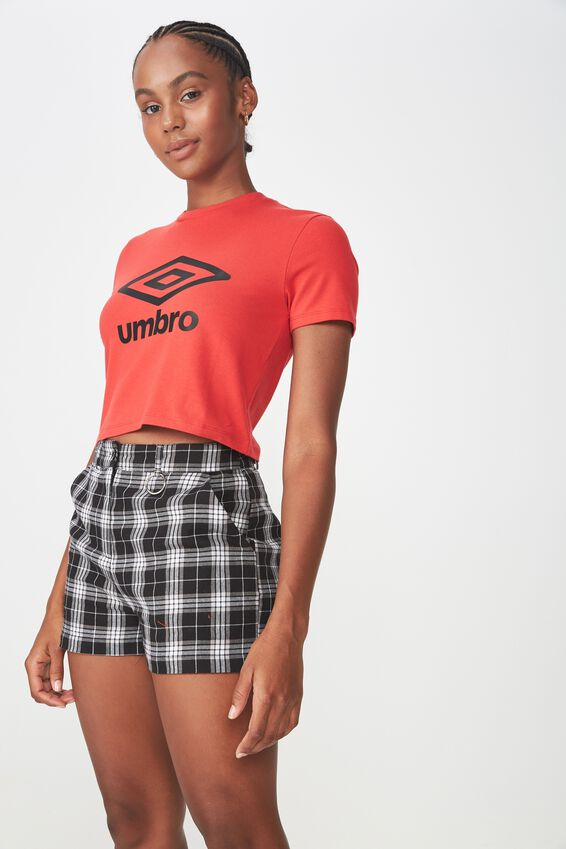 Umbro Lcn Fitted T Shirt, LYCHEE