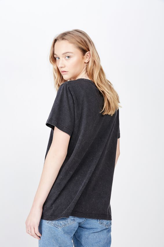Relaxed Graphic T Shirt, WASHED BLACK/FREEDOM