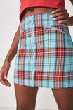 Zip Front A Line Skirt, KATE CHECK