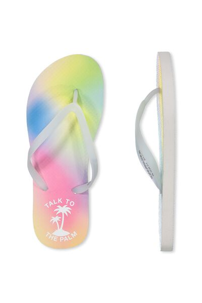 Thin Strap Flip Flop, PALM TALK