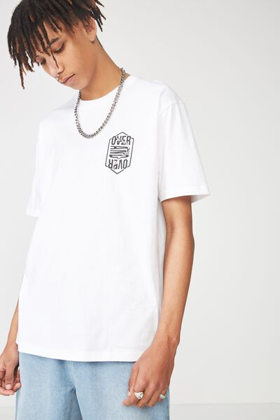 Graphic T Shirt, WHITE/OVER AND OVER