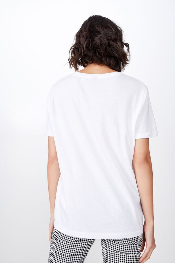 Relaxed Graphic T Shirt, WHITE/PHOTOGRAPHIC ANGEL
