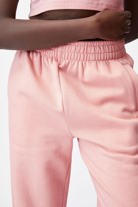 Super Slouchy Trackpant, SILVER PINK