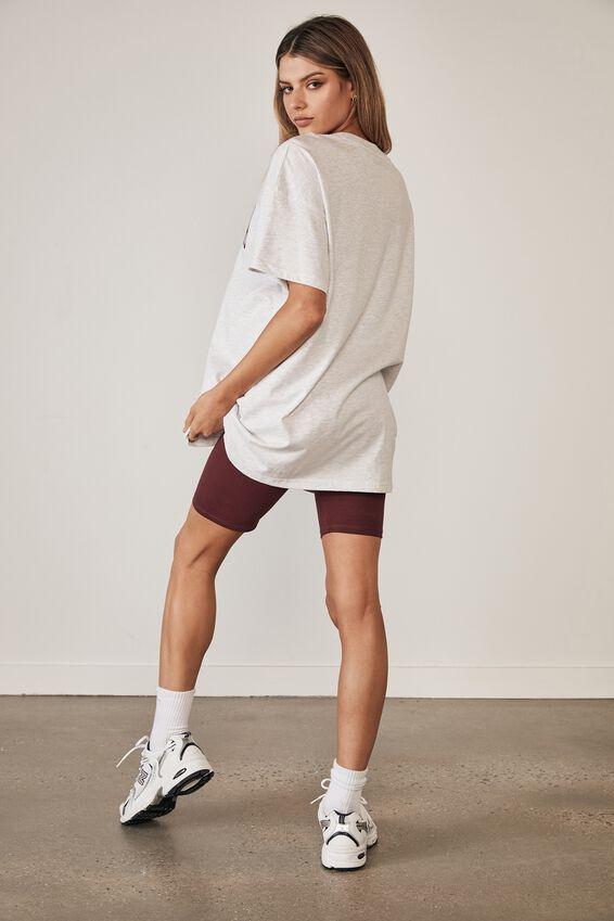 Oversized Graphic T Shirt, SILVER MARLE/ATLANTA