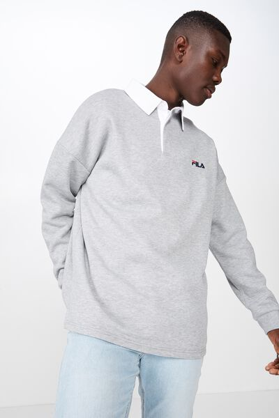 Fila Lcn Long Sleeve Fleece Top, GREY MARLE