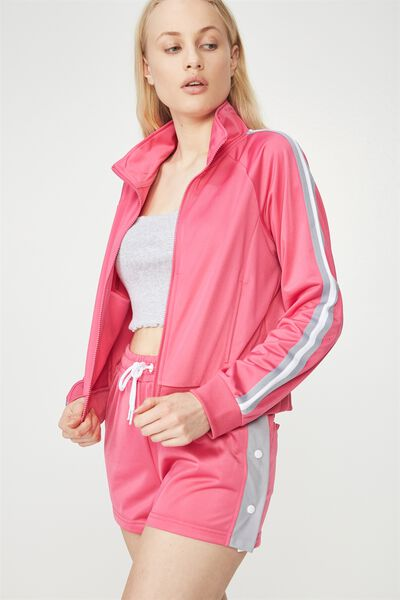 Tricot Jacket, PINK_LILAC GREY TAPE