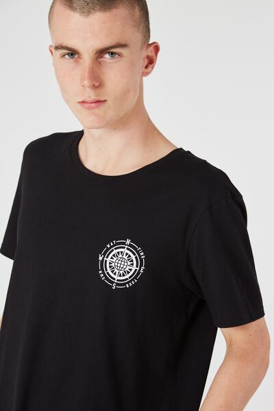 Curved Tail Tee, BLACK/OWN WAY