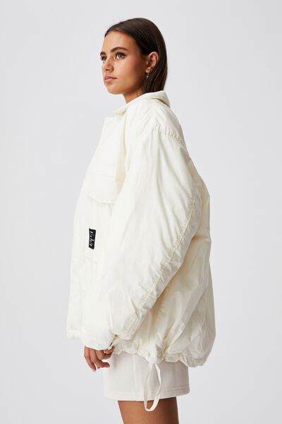 Oversized Padded Jacket, IVORY