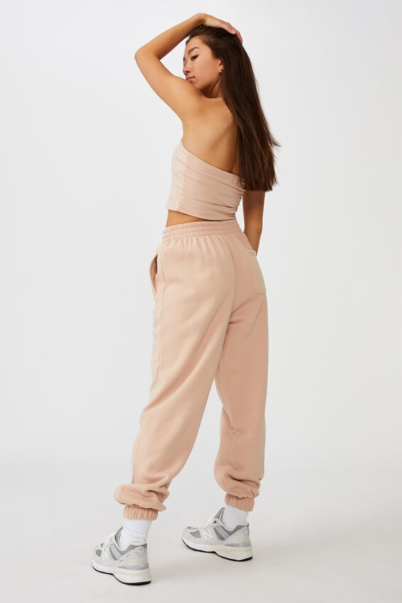 Super Slouchy Trackpant, RUGBY TAN