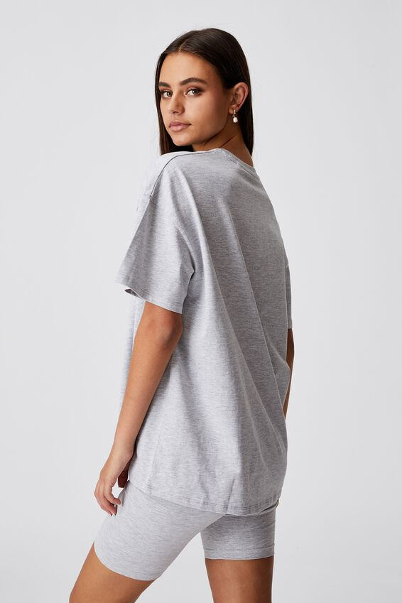 Super Relaxed Graphic Tee, GREY MARLE/MEMPHIS
