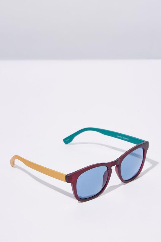 Waymax Sunglasses, M.CRY WINE_BLUE