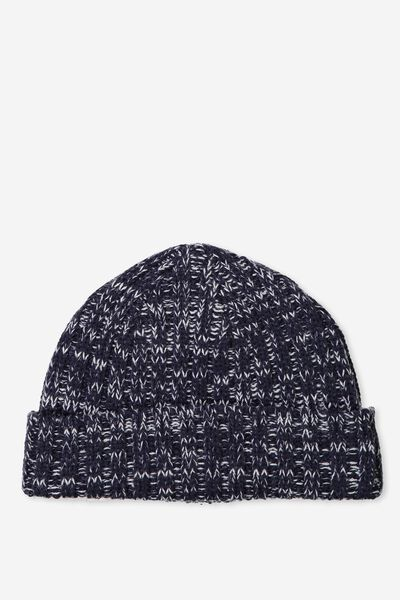 Fishermans Beanie, PEACOAT/WHITE TWIST