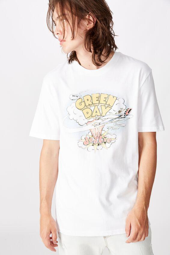 Regular License T Shirt, WHITE/GREEN DAY
