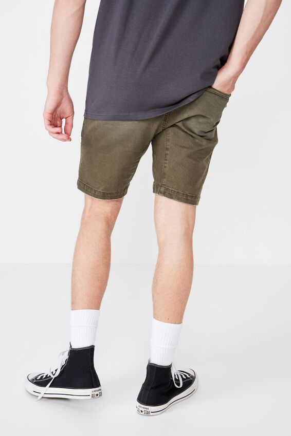 Moto Denim Short, KHAKI