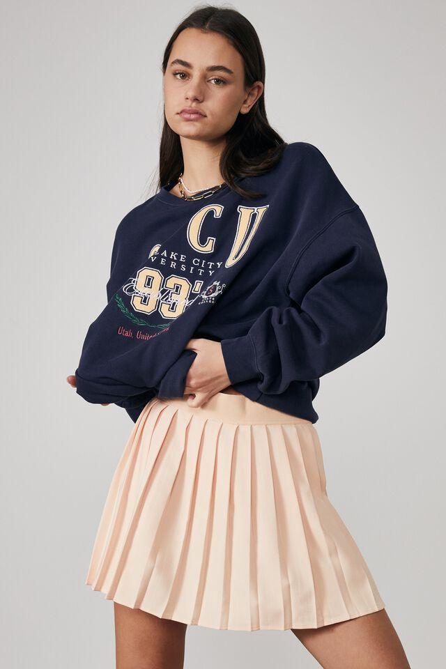 Mini Pleat Skirt, PALE PAPAYA
