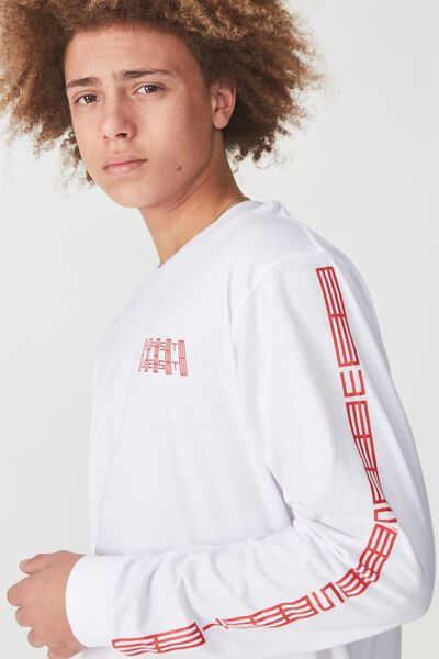 Ls Graphic T Shirt, WHITE/EAST WEST