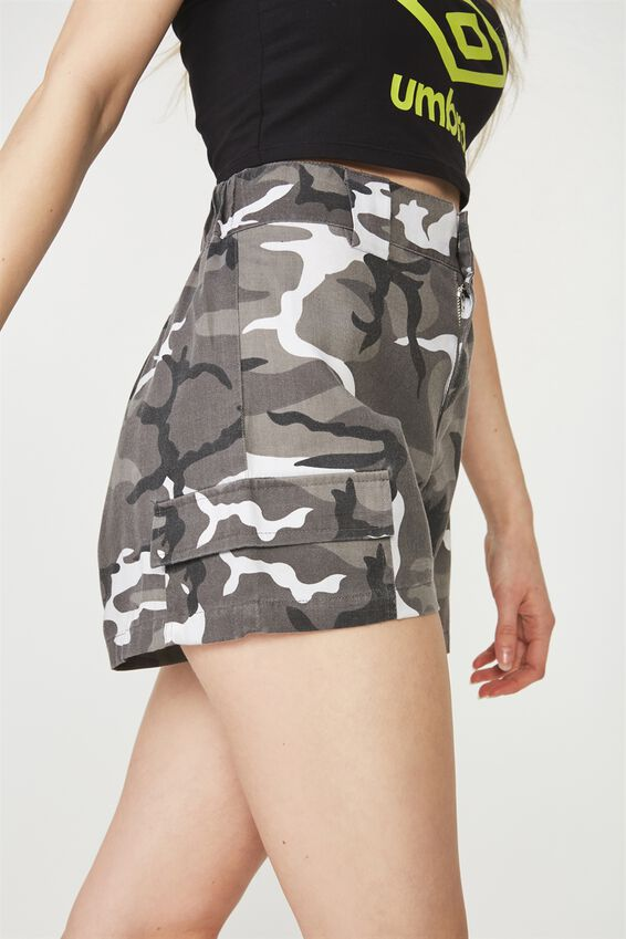 Camo Pocket Short, WHITE CAMO