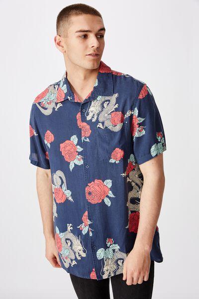 Resort Shirt, DRAGON ROSE