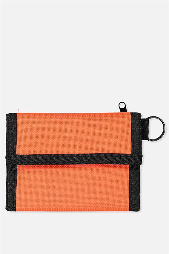 Velcro Wallet, NEON YELLOW_BLK