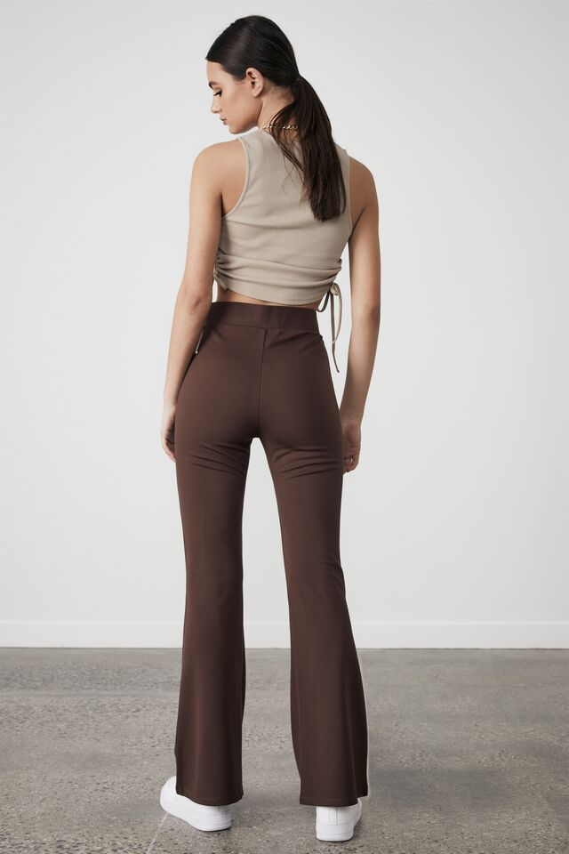 Ruched Cut Out Tank, BROWN MUSHROOM