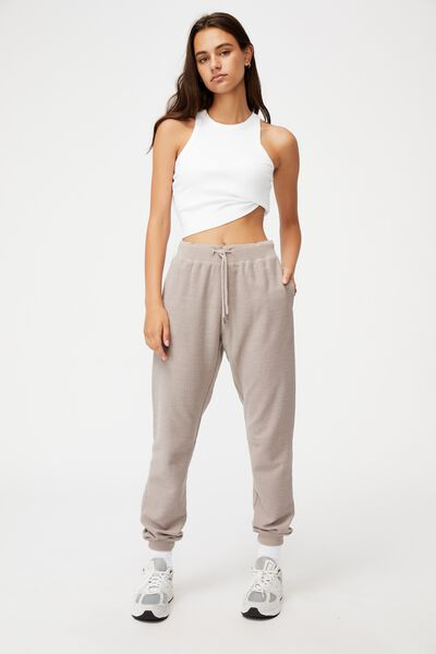 Reverse French Terry Slim Fit Trackpant, ETHEREA