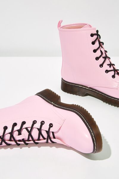 Combat Boot, PASTEL PINK