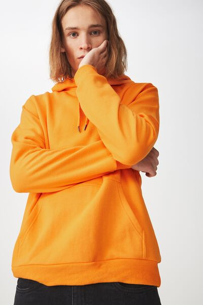 Basic Hoodie, FLAME ORANGE