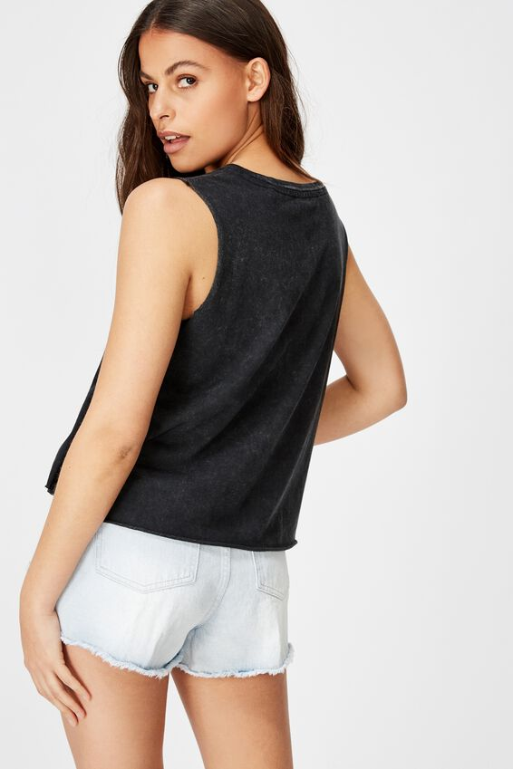 Graphic Tank, WASHED BLACK/ANYWHERE ELSE BUT HERE